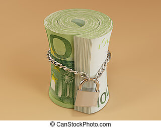 Locked roll of euro