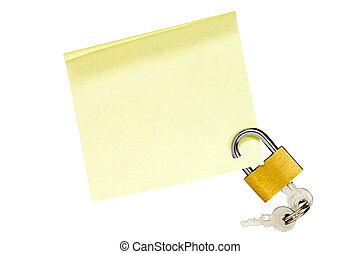 Locked sticky note