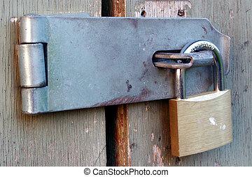 Locked Up - Padlock on a hasp
