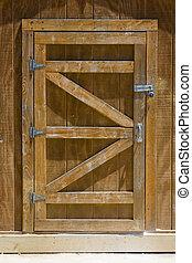 Shed Door - Locked Wooden Shed Door
