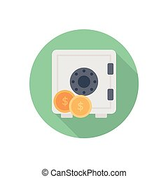 locker  flat color icon