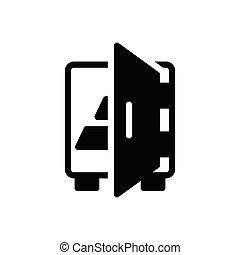locker  glyph flat icon
