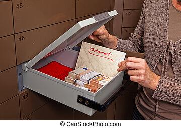 Locker in a bank vault - A locker in a bank vault. Storage ...