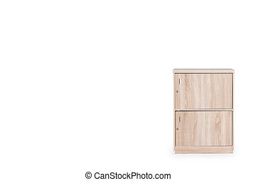 Locker isolated on white background and space for copy.