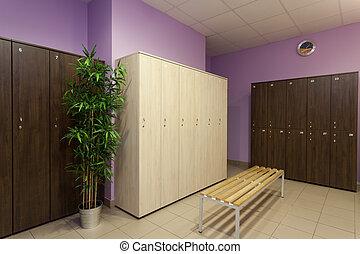 Locker room - Interior of a new modern locker room