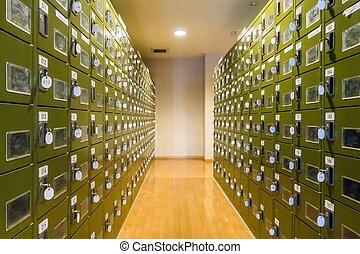 Locker room - Row of Locker in Changing Room