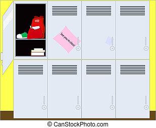 Lockers Illustration