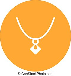 Locket - Jewelry, locket, gold icon vector image. Can also...