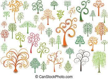 lockig, bäume