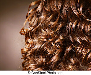 lockig, hair., hairdressing., welle, .natural, haar