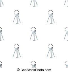 lockpicks, estilo, hacker's, illustration., hackers, símbolo, aislado, caricatura, fondo., vector, tajar, icono, blanco, acción