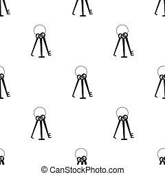 lockpicks, estilo, hacker's, illustration., hackers, símbolo, aislado, fondo., vector, negro, blanco, icono, tajar, acción