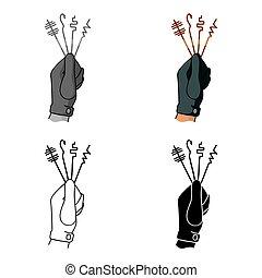 lockpicks, estilo, illustration., símbolo, aislado, crimen, fondo., vector, blanco, icono, caricatura, acción