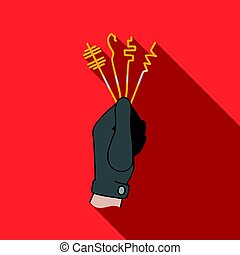 lockpicks, plano, estilo, illustration., símbolo, aislado, crimen, fondo., vector, blanco, icono, acción
