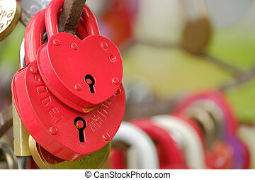 Locks in the form of heart