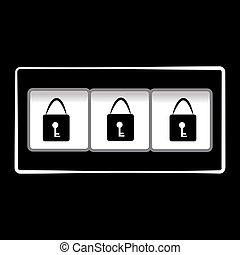 Locks on black background