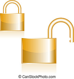 Locks Original Vector Illustration Simple Image Illustration