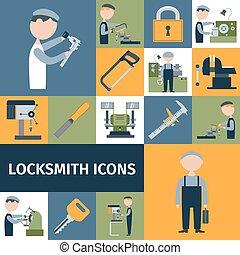 Locksmith Icons Set