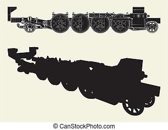locomotief, wielen
