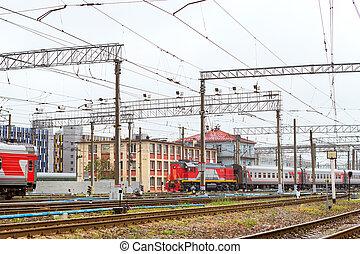 Locomotiv on railroad tracks, Russia - Old locomotive, rzd ...