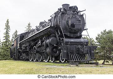 locomotiva, exposição, vapor