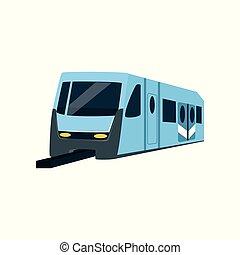 locomotiva, vetorial, ilustração, trem, metrô, subterrâneo, transporte