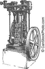 locomotiveà vapeur, stationnaire
