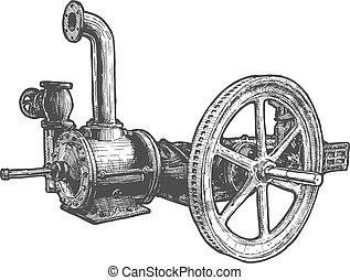 locomotiveà vapeur, volant