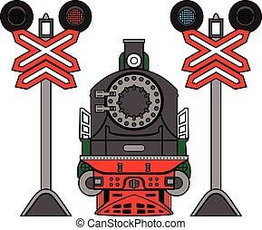 Locomotive and semaphores