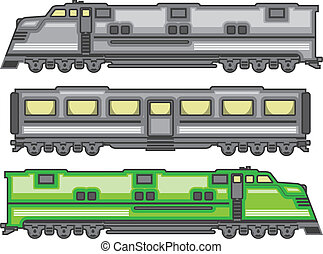 Locomotive Color - locomotive color illustration clip-art...