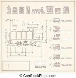 locomotive engineers - Technical drawings for locomotive...