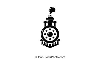 Locomotive icon animation simple best object on white