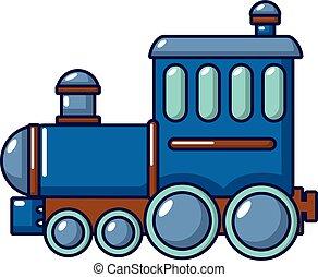 Locomotive icon, cartoon style