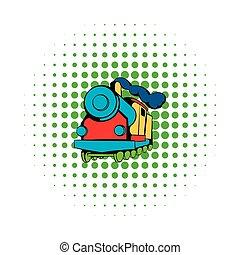 Locomotive icon, comics style