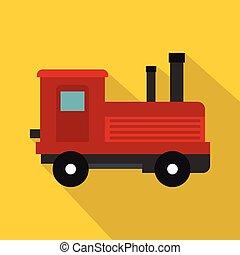 Locomotive icon, flat style