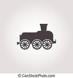 locomotive icon on white background