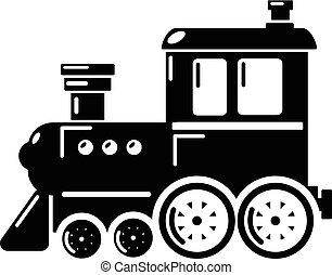 Locomotive icon, simple style