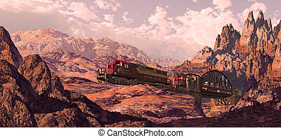 Locomotive In The Great Southwest