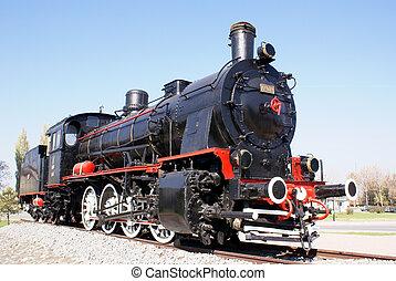 Locomotive - Monument of locomotive in Kaysery, Turkey