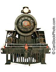 Locomotive - Old black beautiful locomotive showing signs of...