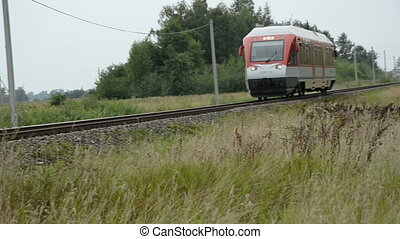 locomotive on the railway