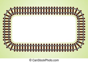 locomotive railroad top wiev track frame rail transport...