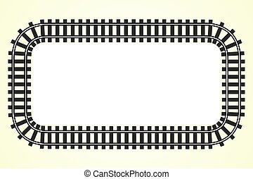 locomotive railroad track frame rail transport background with place for text