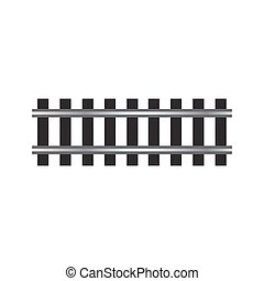 locomotive railroad track rail transport isolated vector element