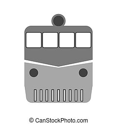 Locomotive symbol icon on white.