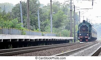 locomotive., vendange, soviétique, vapeur