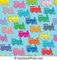 locomotives., 蒸気, カラフルである