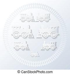 locomotives., dampf