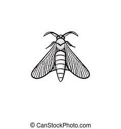 Locust hand drawn sketch icon. - Vector hand drawn locust...