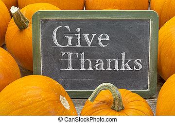 locution, donner, remerciement, balckboard